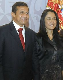 Humala with his wife