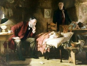 """""""The Doctor"""" by Luke Fildes (detail)"""