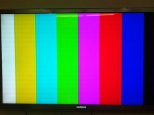 Libyan State TV goes off air. Picture by Sultan Al Qassemi