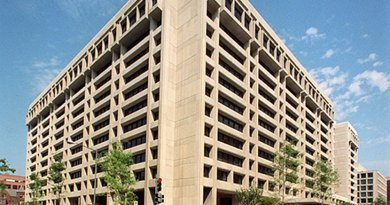 "IMF ""Headquarters 1"" in Washington, D.C. Source: Wikipedia Commons."