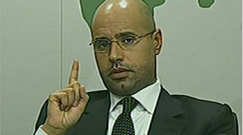Saif al-Islam Gaddafi. Source: Screenshot from Libyan television.