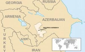 Location of Nagorno-Karabakh. Source: Wikipedia Commons.