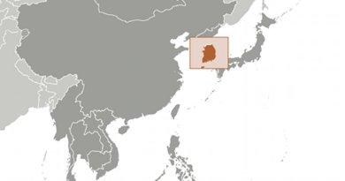 Location of South Korea. Source: CIA World Factbook.