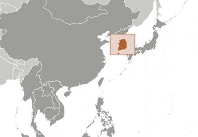 Location of South Korea. Source: CIA World Factbook.