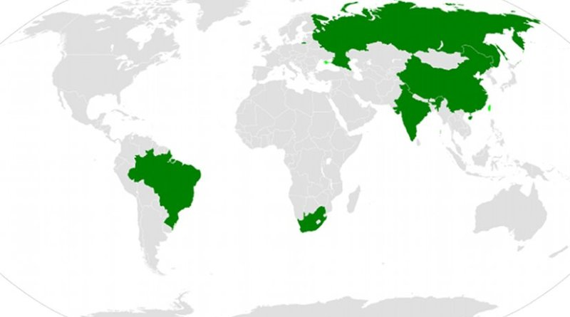 BRICS (Brazil, Russia, India, China and South Africa). Source: WIkipedia Commons.