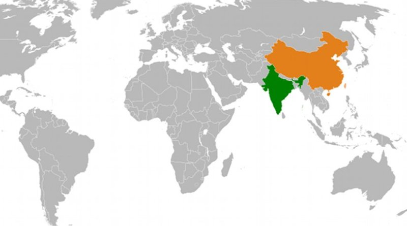 Location of China and India. Source: Wikipedia Commons.