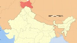 Location of Jammu and Kashmir in India. Source: WIkipedia Commons.