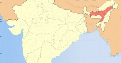 Location of Assam in India. Source: Wikipedia Commons.