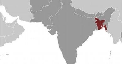 Location of Bangladesh. Source: CIA World Factbook.