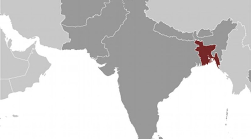Location of Bangladesh. Source: CIA World Factbook.