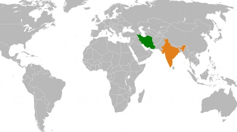 Location of India and Iran