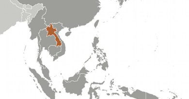 Location of Laos. Source: CIA World Factbook.