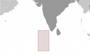 Location of Maldives. Source: CIA World Factbook.