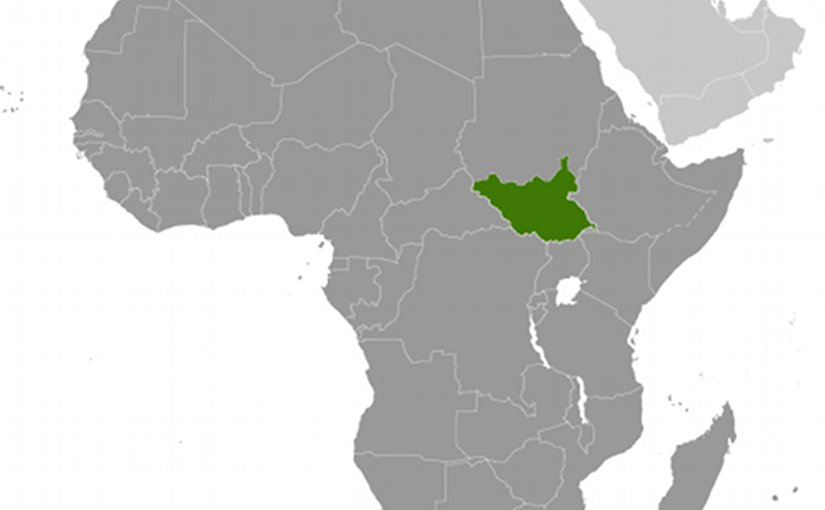 Location of South Sudan