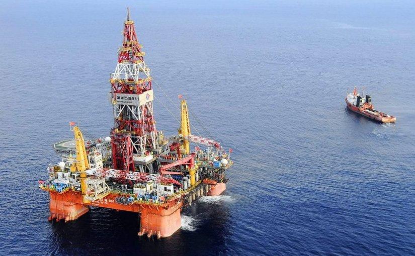 China's Hai Yang Shi You 981 offshore drilling rig.