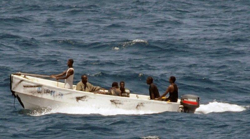 Pirates offshore Somalia. Photo credit: U.S. Navy photo by Mass communication Specialist 2nd Class Jason R. Zalasky (Released)