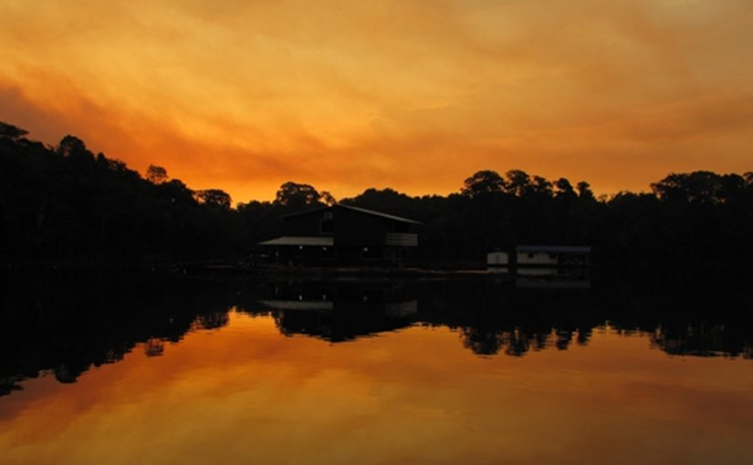 Sunset in the Amazon, Brazil