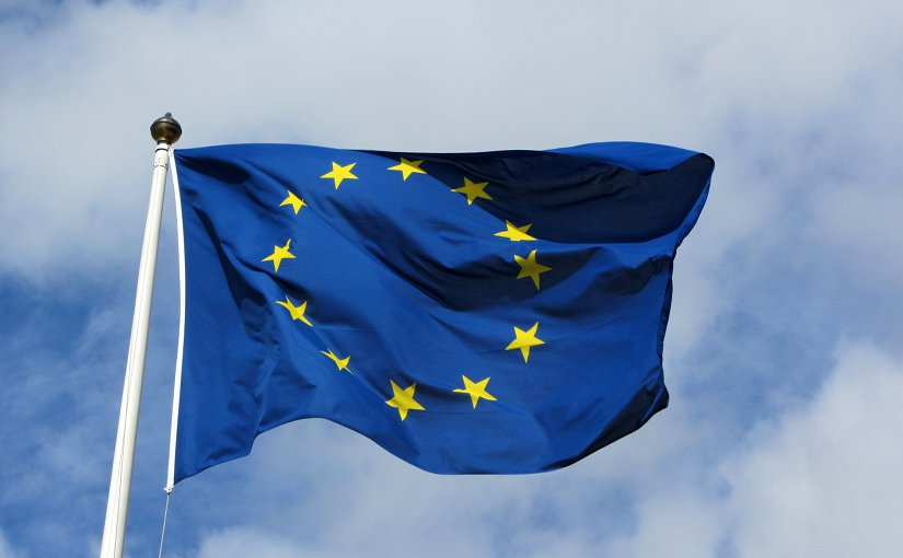 European Union flag. Source: Wikipedia Commons.