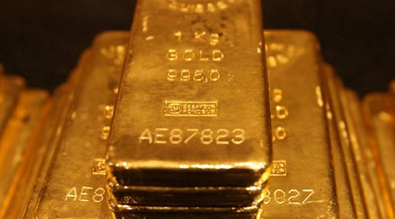 Gold Bars. Photo by Agnico-Eagle Mines Limited, Wikipedia Commons.