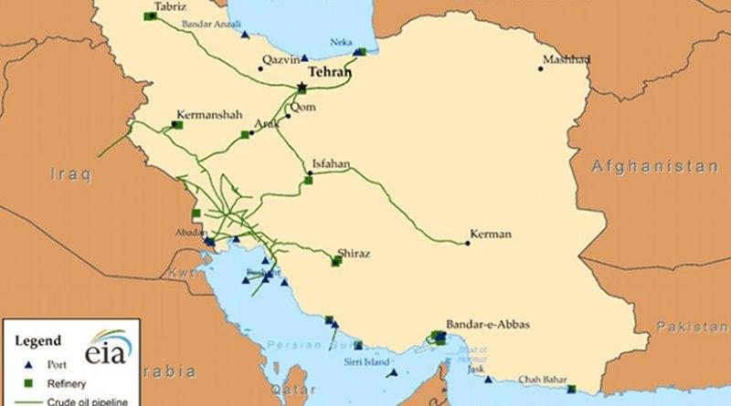 Iran's oil infrastructure. Source: EIA.