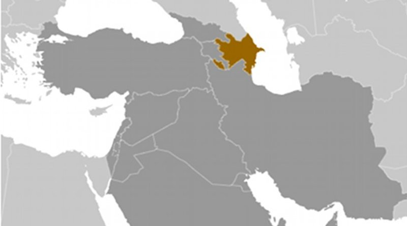 Location of Azerbaijan. Source: CIA World Factbook.