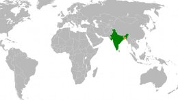 Location of Bangladesh and India. Source: Wikipedia Commons.