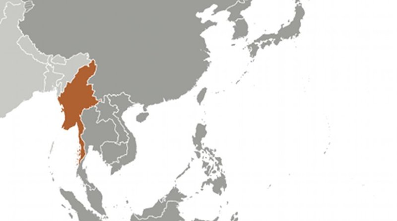 Location of Burma. Source: CIA World Factbook.