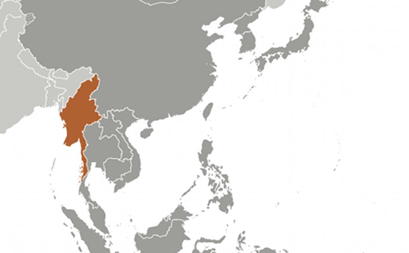 Location of Burma. Source: CIA World Factbook.