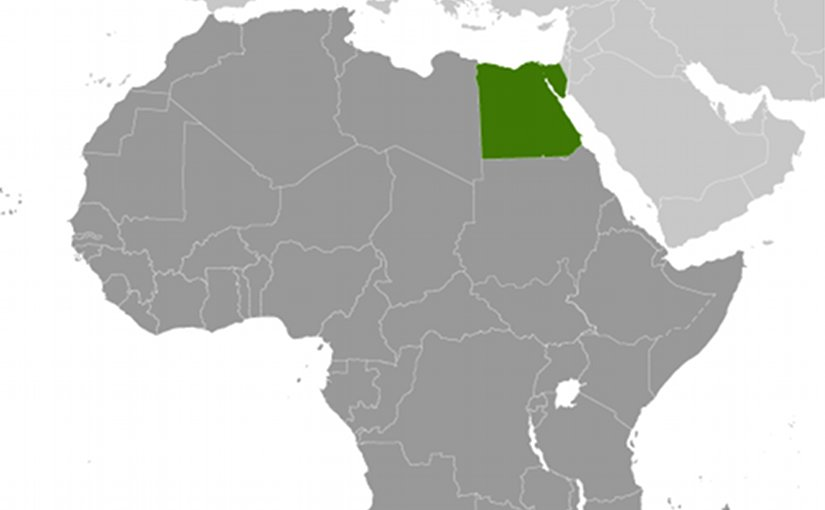 Location of Egypt. Source: CIA World Factbook.