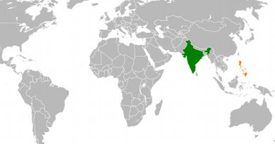 Location of India and Philippines. Source: Wikipedia Commons.