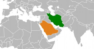 Location of Iran and Saudi Arabia. Source: Wikipedia Commons.