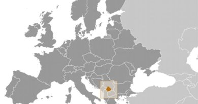 Location of Kosovo. Source: CIA World Factbook.