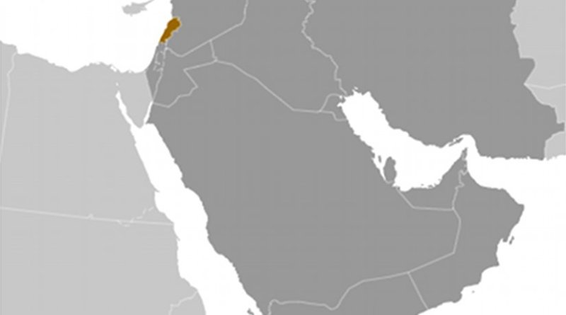 Location of Lebanon. Credit: CIA World Factbook.
