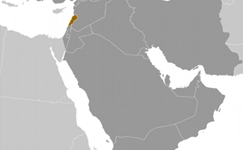 Location of Lebanon. Credit: CIA World Factbook.