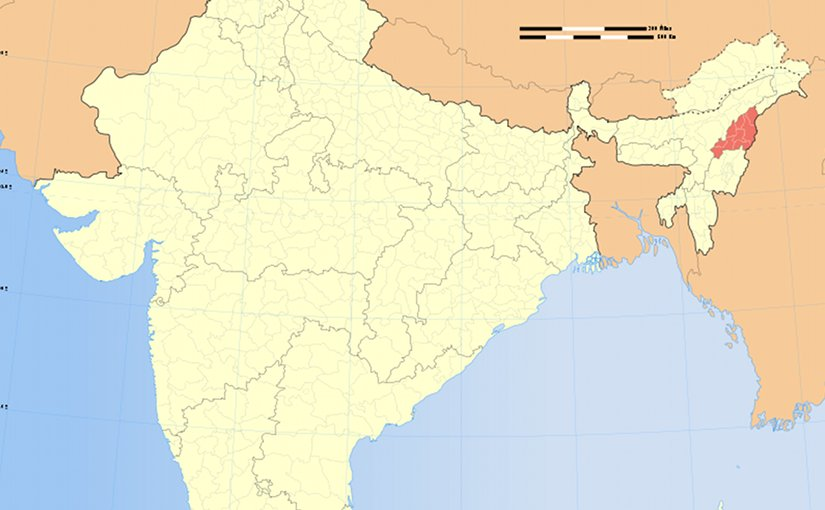 Location of Nagaland in India. Source: Wikipedia Commons.