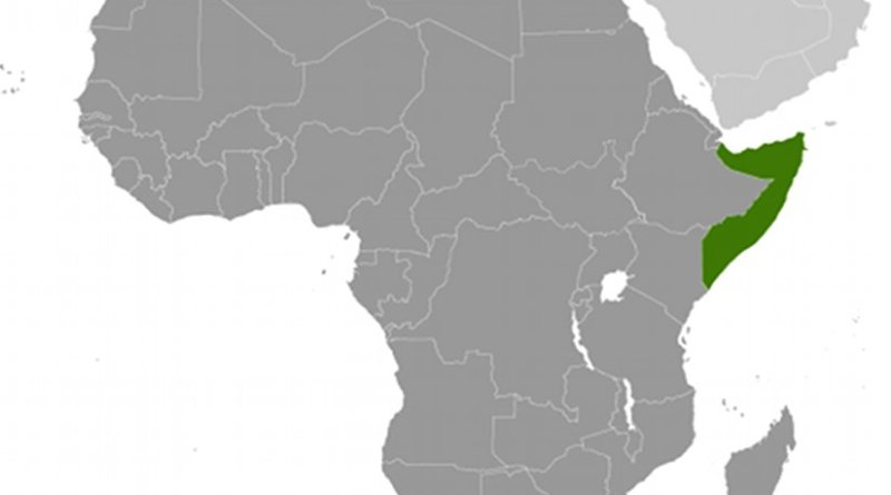 Location of Somalia. Source: CIA World Factbook