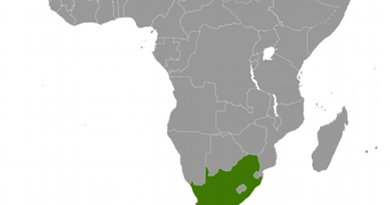 Location of South Africa. Source: CIA World Factbook.