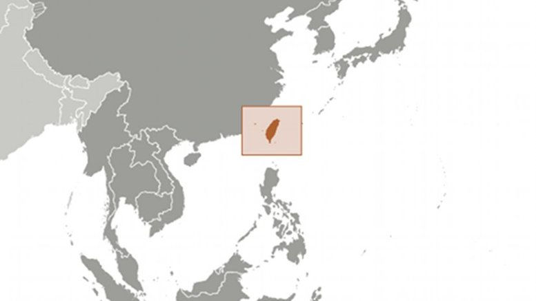 Location of Taiwan. Source: CIA World Factbook.