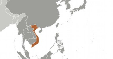 Location of Vietnam. Source: CIA World Factbook.