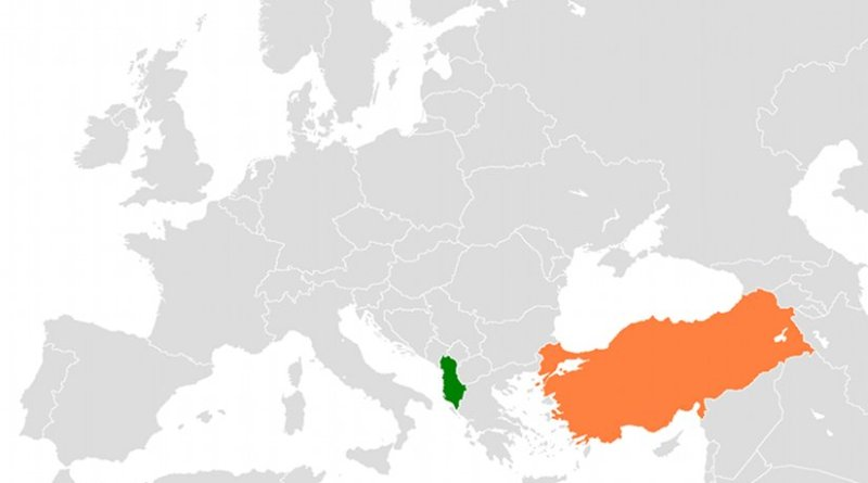 Locations of Albania and Turkey. Source: CIA World Factbook.