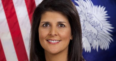 Nikki Haley. Official South Carolina Governor's Office Photo by Sam Holland, Wikipedia Commons.