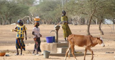 Scene with Women at Village Well in Sahel Region, Burkina Faso. Photo by Adam Jones, Ph.D., Wikipedia Commons.