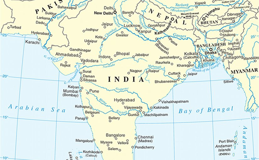 South Asia. Source: United Nations, Wikipedia Commons.