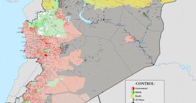 Syrian civil war. Source: Wikimedia Commons.