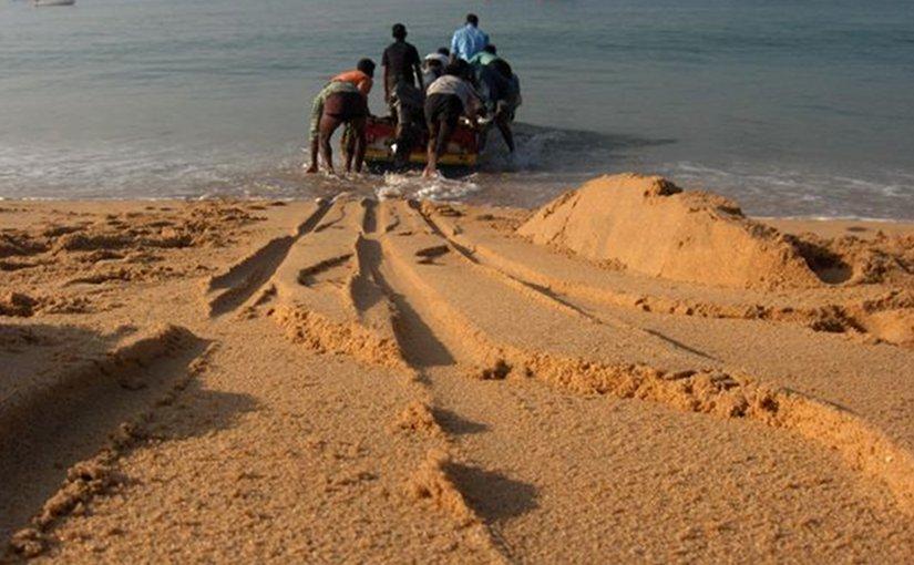 Fishermen in Tamil Nadu, India.