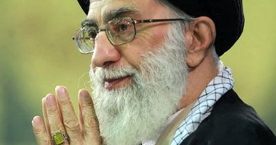 Iran's Grand Ayatollah Seyyed Ali Khamenei. Photo by Seyedkhan, Wikipedia Commons.