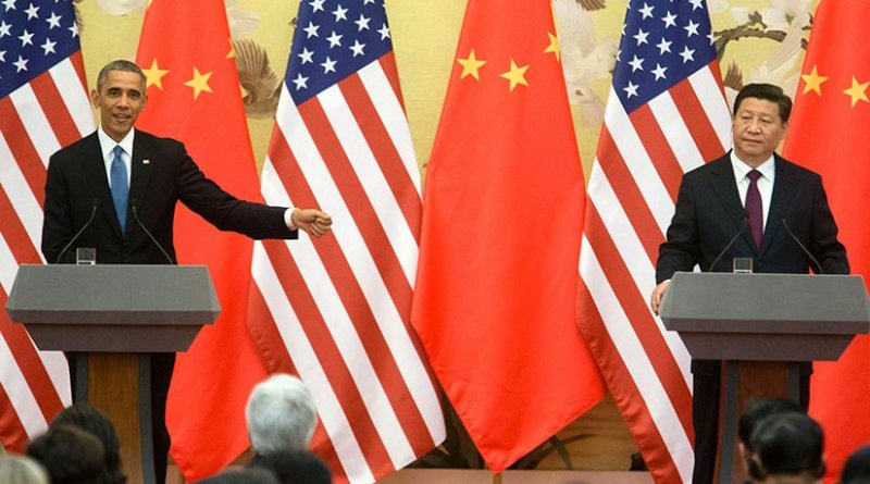President Barack Obama and President Xi Jinping of China hold a press conference at the Great Hall of the People in Beijing, China, Nov. 12, 2014. (Official White House Photo by Chuck Kennedy)