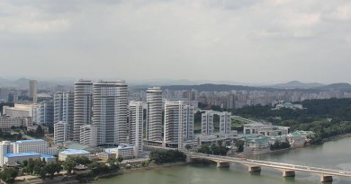 Pyongyang , North Korea. Photo by Laika ac, Wikipedia Commons.