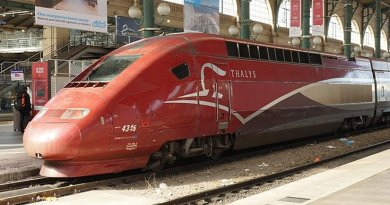 A Thalys train in Gare du Nord, Paris. File photo by Chris Sampson, Wikipedia Commons.