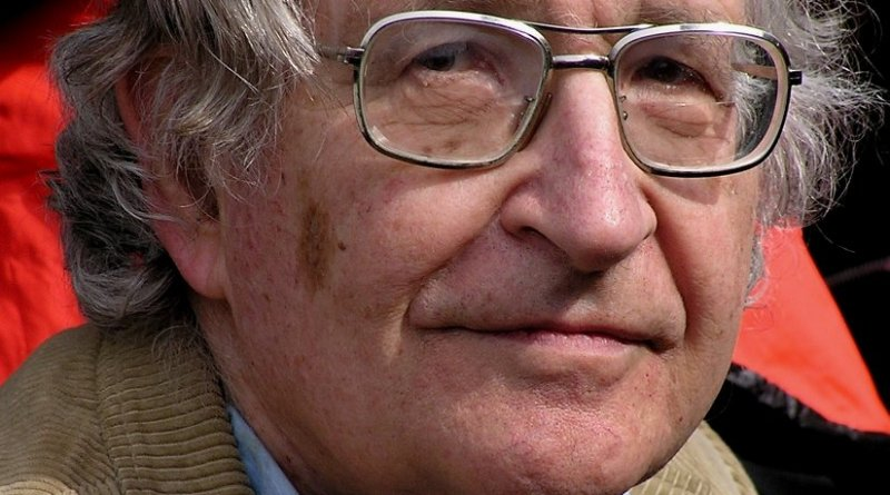 Noam Chomsky. Photo by Duncan Rawlinson, Wikipedia Commons.